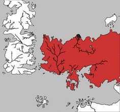 The lands of Essos (in red) west of the Bone Mountains and Krazaaj Zasqa on the map of the known world