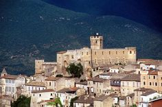 Capsetrano, Italy - Where my father's side of the family is from. Medici castle at Capestrano in Abruzzo.