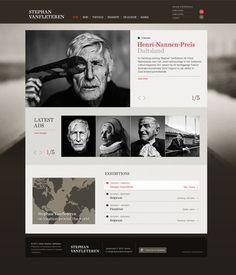Stephan Vanfleteren website by Tim Bisschop, via Behance