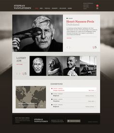 Stephan Vanfleteren website by Tim Bisschop, via Behance