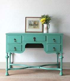 poppy hand painted dressing table by vintage betty   notonthehighstreet.com