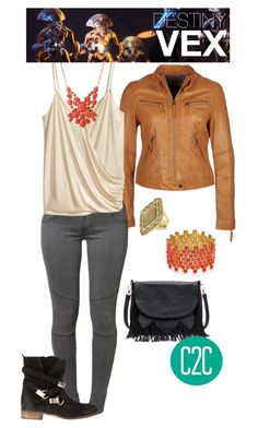 Vex (Destiny) Inspired Outfit by console-to-closet on Polyvore featuring polyvore fashion style H&M Levi's Atmos&Here Sole Society Carolee Forever 21 House of Harlow 1960 clothing