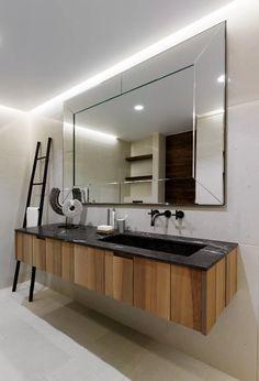 Ideas grey wood tile bathroom shower sinks for 2019 Wood Tile Shower, Marble Tile Bathroom, Wood Bathroom, Grey Bathrooms, Bathroom Colors, Bathroom Furniture, Modern Bathroom, Mirror Bathroom, Bathroom Ideas