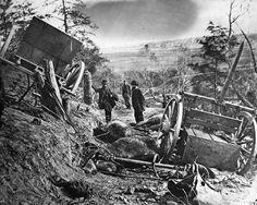 War-torn  landscape in a primitive transport society.   civil war photography   Civil War: Battlefield Photograph by Granger - Civil War: Battlefield ...
