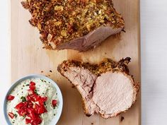 Get Potato-Crusted Pork Chops with Pesto Sauce Recipe from Food Network