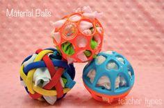 Material Balls - simple baby play idea teachertypes.blogspot.com.au