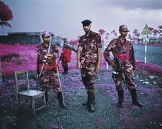 Richard Mosse's The Enclave at La Biennale di Venezia Minds North Kivu, Eastern Congo, 2012 Digital c-print, 122 x 152 cm, edition of 2 Courtesy the artist and Jack Shainman Gallery Infrared Photography, War Photography, Color Photography, Street Photography, Congo, Richard Mosse, Photo Fair, Suspicious Minds, Surrealism