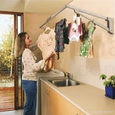 Mais de 1000 ideias sobre sechoir linge no pinterest - Etendoir a linge mural retractable ...