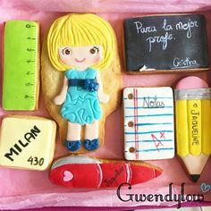 Caja de galletas personalizada para la profe Jaqueline - Teachers cookies - Ñam, Ñam!!!