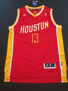James Harden Houston Rockets Jersey #13 Size XL Red Stitched NWT #HoustonRockets