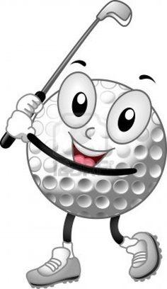 Cartoon golf ball!