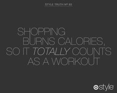 #StyleTruth Shopping burns calories, so it totally counts as a workout. #Target #Style
