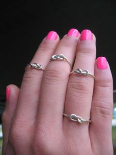 friendship knot rings! a cute bridesmaid gift :)