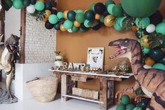 Dinosaur Party, Dinosaur Birthday, Boy Birthday, 4th Birthday Parties, Classroom Door, Club, 1 Year, Windows, Diy