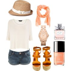 casual summer, created by melissa-brodeur on Polyvore