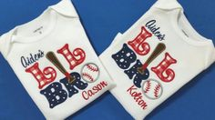Check out this item in my Etsy shop https://www.etsy.com/listing/220597815/personalized-lil-bro-baseball-onesie-or