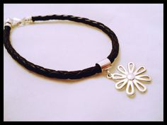 Leather braided bracelet with sterling by SterlingInspiration