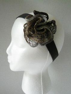 Women's or teens sashay ruffle yarn headband by TheStylishHatter, $4.99