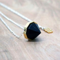Diamond Pendant Black, 98€, now featured on Fab.