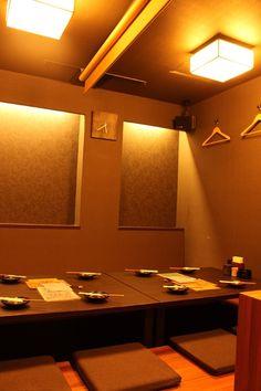 Okayama 岡山(おかやま) Restaurant 大樹-Ryomi- / 岡山のグルメ【えざかや】 奥の掘りごたつ座敷は、周りも気にならず10名様までの宴会が可能◆