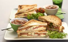 Ham and Blue Toasted Sandwiches #castello #recipe #appetizer