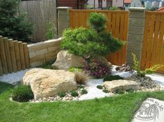 Zahrada - konečně to vypukne - Album uživatelky anitia Landscaping With Rocks, Outdoor Landscaping, Front Yard Landscaping, Outdoor Decor, Front Yard Garden Design, Lawn And Garden, Small Japanese Garden, Japan Garden, Garden Paving