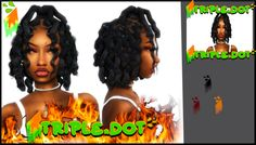 """🔥Destiny Loc's🔥-Public """"HAPPY NEW YEAR 🔥Destiny Loc's🔥 Swatches Description These locs are based on 90 tv show hair styles & stuff but i hope you guys like lol Get your ( 🔥Destiny Loc's🔥 . Sims 4 Teen, Sims Four, Sims 4 Toddler, Sims Cc, Sims 4 Body Mods, Sims 4 Game Mods, Sims 4 Cc Kids Clothing, Sims 4 Mods Clothes, Sims 4 Curly Hair"""