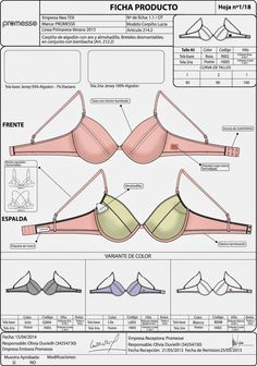 Specification sheet for bra Underwear Pattern, Lingerie Patterns, Sewing Lingerie, Jolie Lingerie, Bra Pattern, Sewing Clothes, Diy Clothes, Clothes For Women, Aya Couture