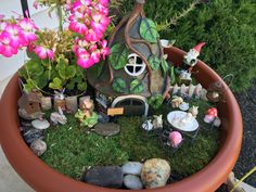 Miniature fairy garden.