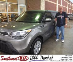 #HappyAnniversary to Danny Hill on your 2014 #Kia #Soul from Kathy Parks at Southwest KIA Rockwall!