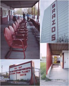 Old school Drive-in theater in Granbury, Texas