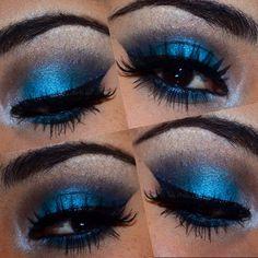 Maquillaje azul blue makeup para graduación PAUCORREAMAKEUP
