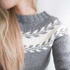 Billedresultat for marygenser Free Chunky Knitting Patterns, Sweater Knitting Patterns, Easy Knitting, Knitting Sweaters, Crochet Earrings Pattern, Fair Isle Pattern, Fair Isle Knitting, Warm Outfits, Knit Crochet