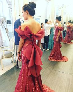 Charming Burgundy Mermaid Evening Dress With Off The Shoulder Lace Appliques Beaded Long Formal Party Gowns Evening Dresses Club Dresses, Sexy Dresses, Fashion Dresses, Prom Dresses, Formal Dresses, Formal Wear, Gold Evening Dresses, Mermaid Evening Dresses, Evening Gowns