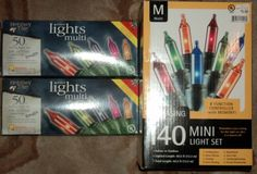 Lot of 3 New Boxes Mini Christmas Lights