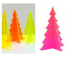 neon acrylic Christmas trees  #dailydelight  #hgtv