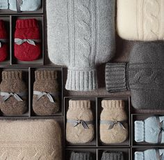 cashmere cable knit hot water bottle covers & hand warmers