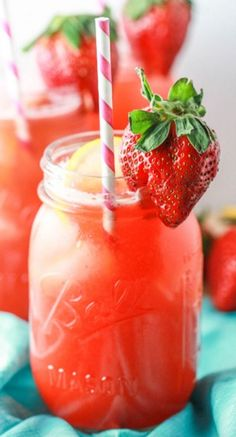 Delicious Moscato Strawberry Lemonade - Recipe, Beverages, Quick and Easy, Libation, Guests