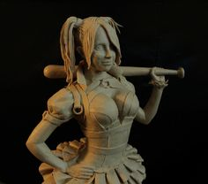 Harley Quinn, Zbrush, Sculpting, Artwork, Cool Art, Fun, Statue, Sculpture, Work Of Art