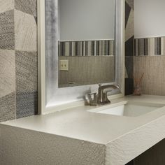Be inspired by these images from Arizona Tile of interior tiled projects from every areas of a household. Quartz Slab, Quartz Countertops, Arizona, Photo Galleries, Household, Interior Design, Mirror, Bathroom, Inspiration
