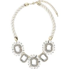 Vintage style flower necklace ($29) ❤ liked on Polyvore