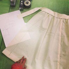 実はパターンの学校に通ってる私 今日はギャザースカートでトワル組みました 服好きがここまでくるとは by saramary12