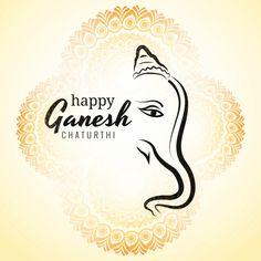 Happy Ganesh Chaturthi Greeting Card Showing Background Vector and PNG Ganesh Chaturthi Greetings, Happy Ganesh Chaturthi Images, Ganesh Pooja, Ganesh Utsav, Ganpati Invitation Card, Diwali Vector, Paint Splash Background, Ganesh Wallpaper, Lord Ganesha Paintings