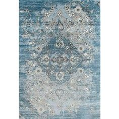 Persian Rugs Vintage Antique Designed Blue Beige Tones Area Rug (7'10 x 10'6) | Overstock.com Shopping - The Best Deals on 7x9 - 10x14 Rugs
