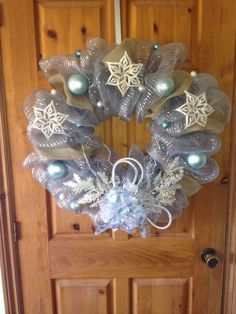 Icy Christmas Wreath