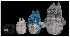 My neighbor Totoro - 3D Origami.