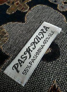 Pashmina Silk Scarf Stole Wrap Shawl Throw Winter Warm Wide Floral Earthy 180x69
