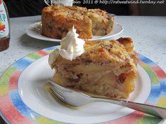 Apfel-Vanille-Pudding Kuchen