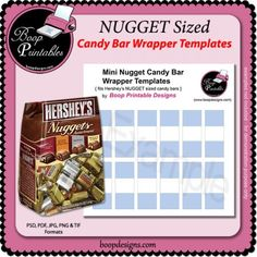 free mini candy bar wrapper template - candy bar wrapper 4 4 oz template by boop designs