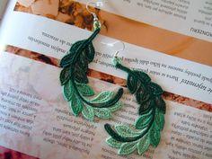 Lace Earrings - Amazonia from Lace-Design by DaWanda.com